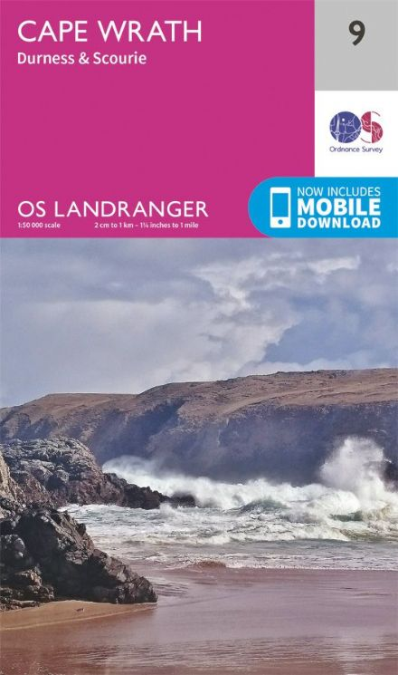 OS Landranger 09 - Cape Wrath, Durness and Scourie